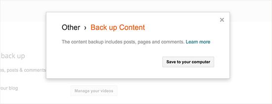 Back Up Konten Blog